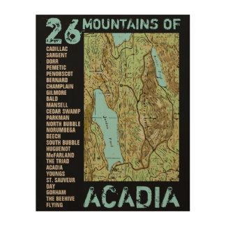 ACADIA MAP WOOD WALL DECOR