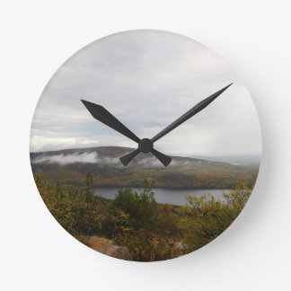 Acadia Mountain View Round Clock