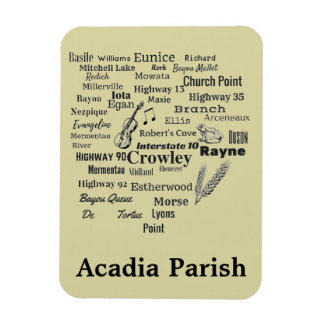 Acadia Parish Louisiana Cities & Places Magnet