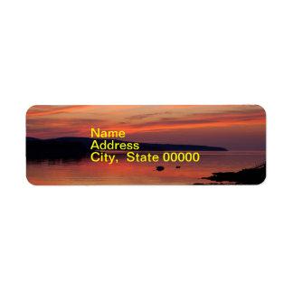 Acadia Sunrise Address Label