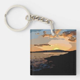 ACADIA SUNSET KEY RING