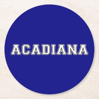 Acadiana Round Paper Coaster