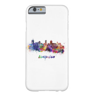 Acapulco skyline in watercolor barely there iPhone 6 case