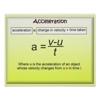 Acceleration, Math, Science, Physics Poster