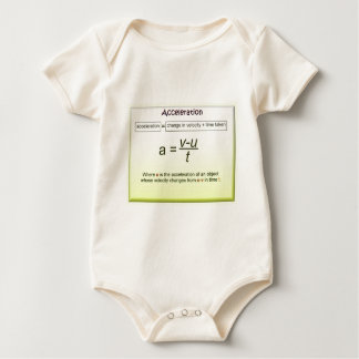 Acceleration, Math, Science, Physics Romper