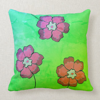 Accent Pillow 20x20 green mangopink