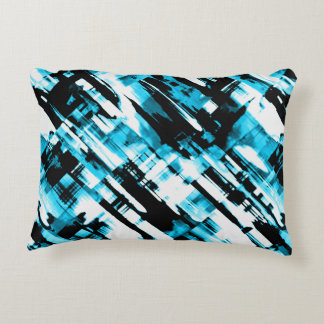 Accent Pillow Blue Black abstract digitalart G253