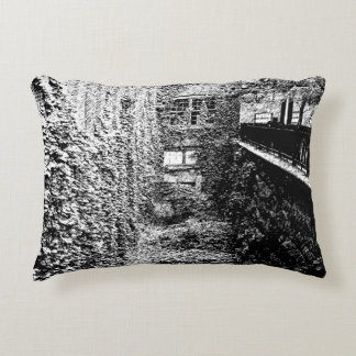 Accent Pillow - Brick & Ivy Scene - Any Color