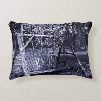 Accent Pillow - Country Wooden Swing - Blue