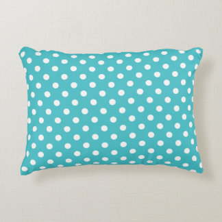 Accent Pillow - Curacao Blue Polka Dot