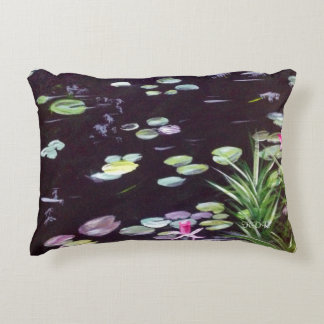 Accent Pillow Lilies In a Pond