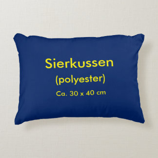 Accent Pillow Polyester uni Blue
