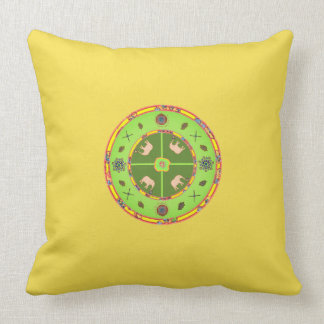Accent Pillow yellow elephants custom