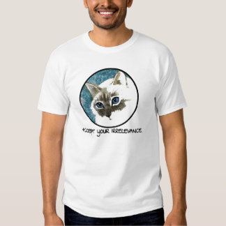 Accept Your Irrelevance Cat Tee