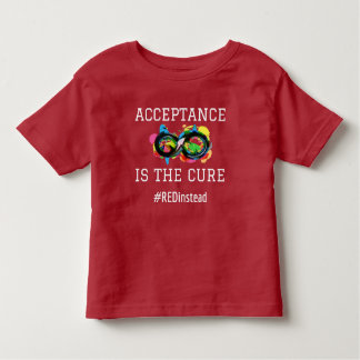 Acceptance is the Cure Awesomely Autistic Toddler T-Shirt