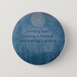 Acceptance  quote wabi sabi 6 cm round badge