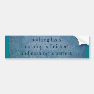 Acceptance  quote wabi sabi bumper sticker