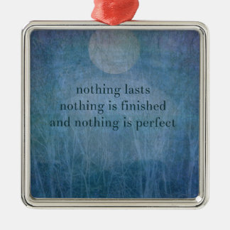 Acceptance  quote wabi sabi metal ornament