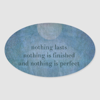 Acceptance  quote wabi sabi oval sticker