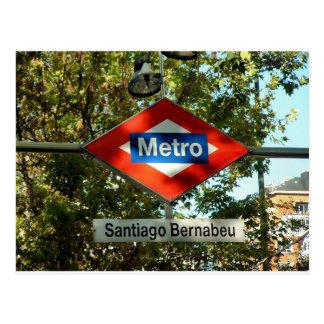 Access to the meter in Santiago Bernabeu, Madrid Postcard