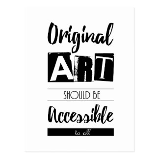 Accessible Art for All Quote Postcard