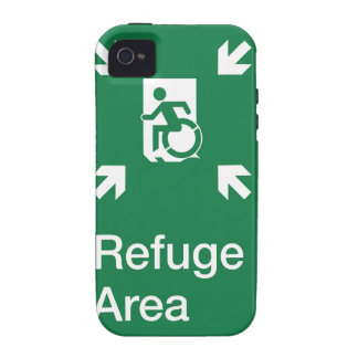 Accessible Means of Egress Icon Fire Refuge Area Vibe iPhone 4 Cover