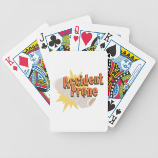 Accident Prone Leg Bicycle Playing Cards