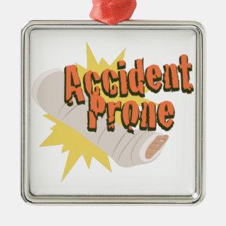 Accident Prone Leg Metal Ornament