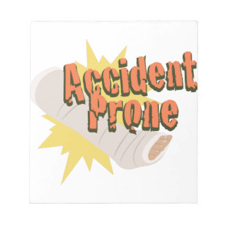 Accident Prone Leg Notepad