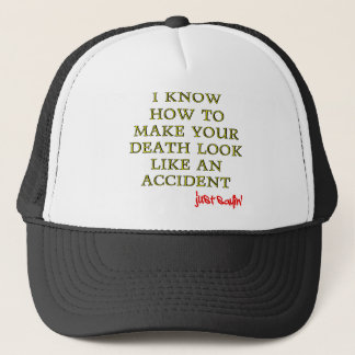 Accidental Death Funny Ball Cap Hat