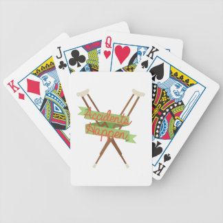 Accidents Happen Crutches Bicycle Playing Cards