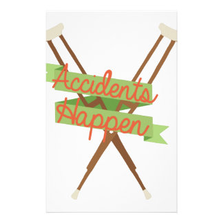 Accidents Happen Crutches Personalized Stationery