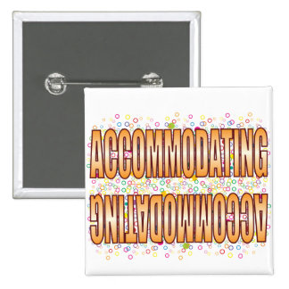 Accommodating Bubble Tag 15 Cm Square Badge