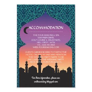 Accommodation Cards Wedding Arabian Nights