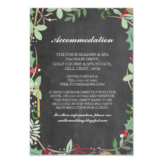 Accommodation Xmas Winter Chalk Wedding Cards