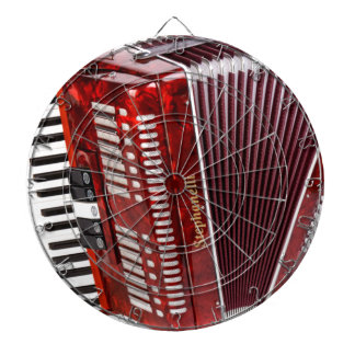 ACCORDIAN MUSICAL INSTRUMENT DARTBOARD