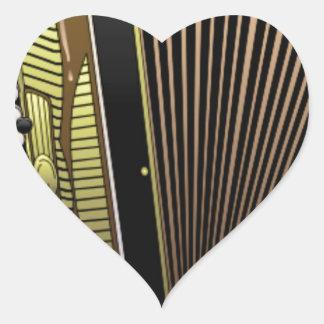 accordion all alone heart sticker