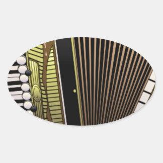accordion all alone oval sticker
