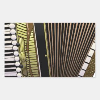 accordion all alone rectangular sticker