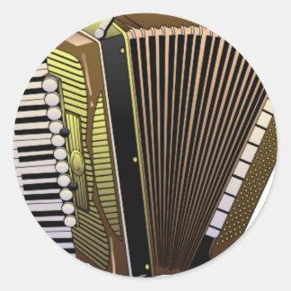 accordion all alone round sticker