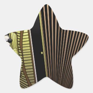 accordion all alone star sticker