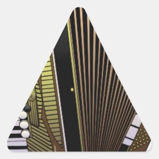 accordion all alone triangle sticker