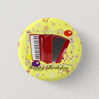 Accordion Celebration 3 Cm Round Badge