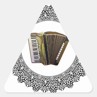 accordion in a round triangle sticker