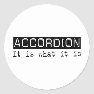 Accordion It Is Classic Round Sticker