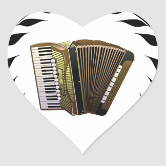 accordion music branch heart sticker