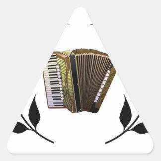 accordion music branch triangle sticker