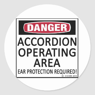 Accordion Operating Area Classic Round Sticker