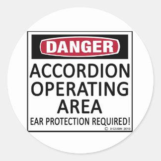 Accordion Operating Area Round Sticker