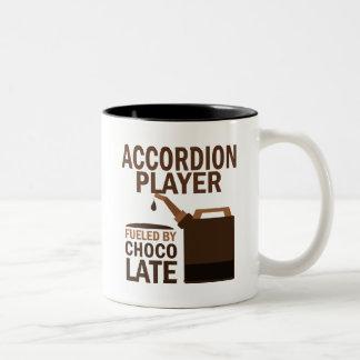 Accordion Player (Funny) Chocolate Two-Tone Mug